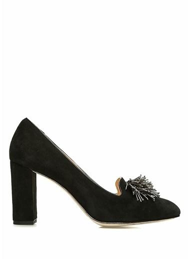 Beymen Club Kalın Topuklu Deri Süet Ayakkabı Siyah